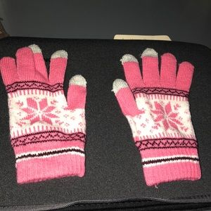 Other - Girls' Winter Gloves with Touchscreen Finger Tips